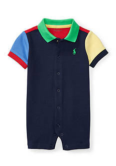Ralph Lauren Childrenswear Interlock Colorblock Shortall