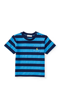 Ralph Lauren Childrenswear Textured Jersey Short Sleeve Pocket Tee