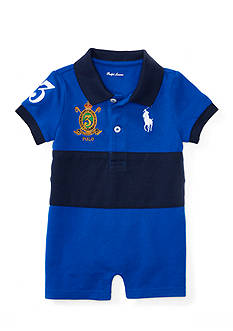 Ralph Lauren Childrenswear Classic Mesh Banner Polo Shortall