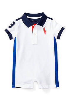 Ralph Lauren Childrenswear Classic Pieced Polo Shortall