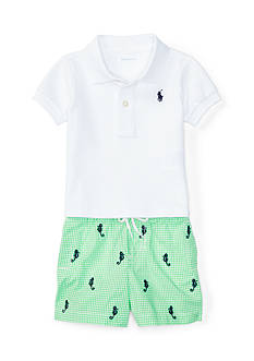 Ralph Lauren Childrenswear 2-Piece Cotton Polo and Short Set