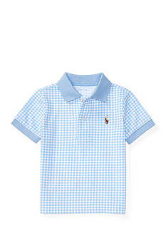 Ralph Lauren Childrenswear Mesh Gingham Polo