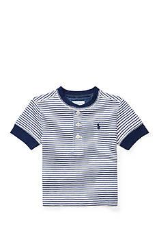 Ralph Lauren Childrenswear Striped Cotton Jersey Henley