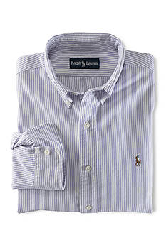 Ralph Lauren Childrenswear Stripe Oxford Cotton Shirt Toddler Boys