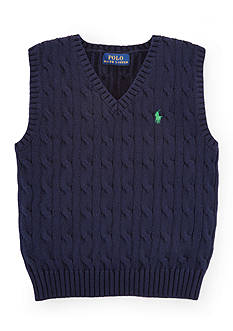 Ralph Lauren Childrenswear Cable-Knit Sweater Vest Toddler Boys