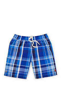 Ralph Lauren Childrenswear Plaid Boardshort Toddler Boys
