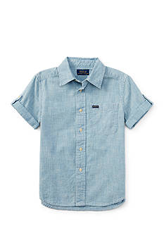 Ralph Lauren Childrenswear Chambray Button Front Shirt Toddler Boys