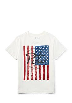 Ralph Lauren Childrenswear Jersey Flag T-Shirt Toddler Boy