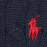 Toddler Boys Sweaters: Hunter Navy Ralph Lauren Childrenswear Cable-Knit Cotton Sweater Vest Toddler Boy