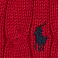 Toddler Boys Sweaters: Carriage Red Ralph Lauren Childrenswear Cable-Knit Cotton Sweater Vest Toddler Boy