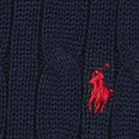 Toddler Boys Sweaters: Hunter Navy Ralph Lauren Childrenswear Cable-Knit Cotton Sweater Toddler Boys