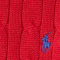 Toddler Boys Sweaters: Carriage Red Ralph Lauren Childrenswear Cable-Knit Cotton Sweater Toddler Boys