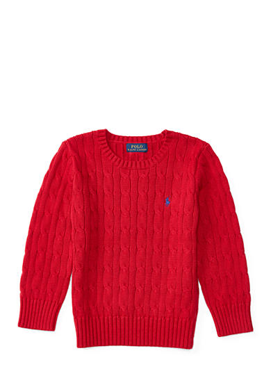 Ralph Lauren Childrenswear Cable-Knit Cotton Sweater Toddler Boys