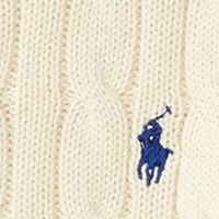 Toddler Boys Sweaters: Hanover Cream Ralph Lauren Childrenswear Cable-Knit Cotton Sweater Toddler Boys