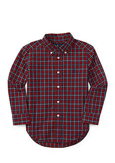 Ralph Lauren Childrenswear Poplin Plaid Shirt Toddler Boy