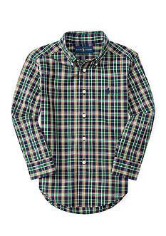 Ralph Lauren Childrenswear Poplin Plaid Shirt Toddler Boy