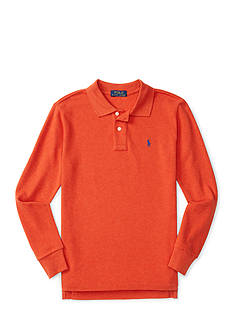 Ralph Lauren Childrenswear Cotton Mesh Long-Sleeve Polo Toddler Boys