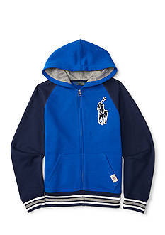 Ralph Lauren Childrenswear Striped Varsity Hoodie Toddler Boy