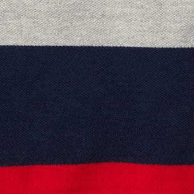 Ralph Lauren Boys: Gray Heather Multi Ralph Lauren Childrenswear Mesh Stripe Polo - Toddler Boy