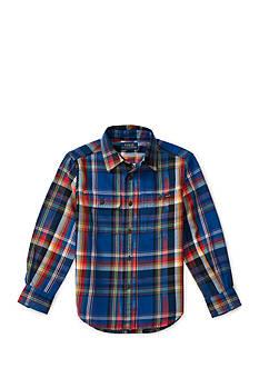 Ralph Lauren Childrenswear Madras Cotton Twill Workshirt Toddler Boys
