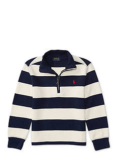 Ralph Lauren Childrenswear Cotton-Blend Half-Zip Pullover Toddler Boys