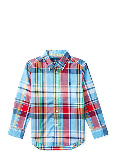 Ralph Lauren Childrenswear Plaid Cotton Poplin Shirt Boys 2-7