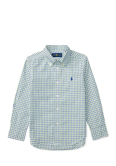 Ralph Lauren Childrenswear Plaid Cotton Poplin Shirt Toddler Boys