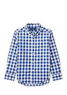 Ralph Lauren Childrenswear Poplin Long Sleeve Shirt Toddler Boy