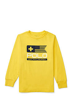 Ralph Lauren Childrenswear Cotton Long Sleeve Graphic Tee Toddler Boys