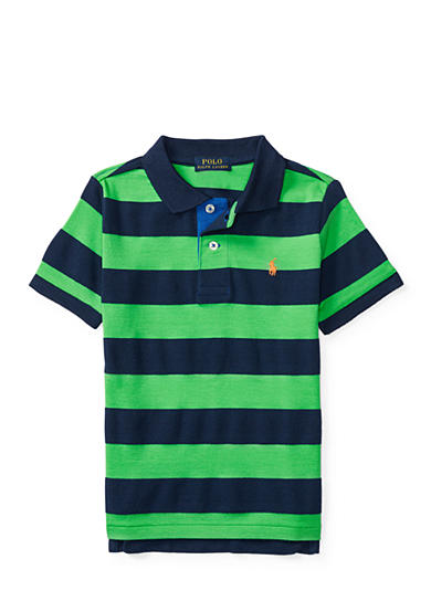 Ralph Lauren Childrenswear Striped Cotton Mesh Polo Toddler Boys