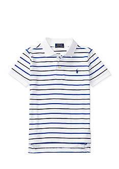 Ralph Lauren Childrenswear Striped Cotton Jersey Polo Toddler Boys 2T-4T