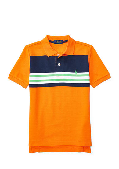 Ralph Lauren Childrenswear Striped Cotton Mesh Polo Shirt Toddler Boys