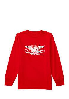 Ralph Lauren Childrenswear Cotton Long Sleeve Graphic Tee Toddler Boys