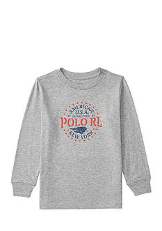 Ralph Lauren Childrenswear Cotton Long-Sleeve Graphic Tee Toddler Boys