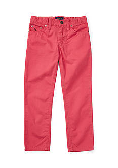 Ralph Lauren Childrenswear Slub Canvas Skinny Fit 5 Pocket Pant Toddler Boys