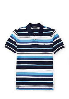 Ralph Lauren Childrenswear Short Sleeve Striped Mesh Polo Toddler Boys