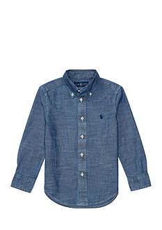 Ralph Lauren Childrenswear Chambray Blake Top Toddler Boys
