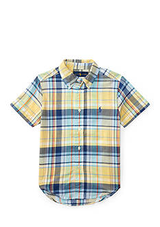 Ralph Lauren Childrenswear Cotton Madras Shirt Toddler Boys