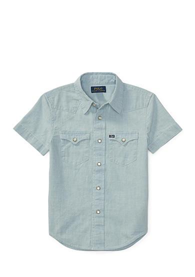 Ralph lauren childrenswear chambray western shirt toddler for Chambray shirt for kids