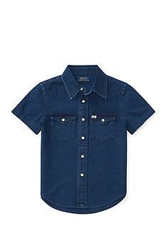 Ralph Lauren Childrenswear Cotton Oxford Western Shirt Toddler Boys