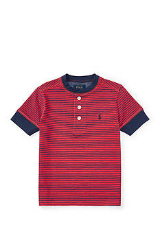Ralph Lauren Childrenswear Multi-Striped Cotton Henley Toddler Boys