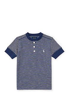 Ralph Lauren Childrenswear Multi-Striped Cotton Henley Toddler Boys