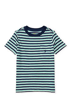 Ralph Lauren Childrenswear Striped Cotton Pocket Tee Toddler Boys