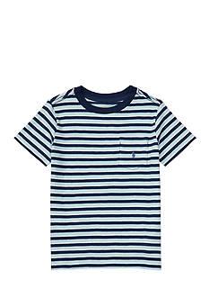 Ralph Lauren Childrenswear Striped Cotton Pocket Tee Toddler Boys