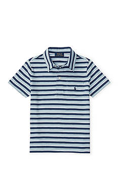 Ralph Lauren Childrenswear Striped Cotton Polo Shirt Toddler Boys