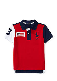 Ralph Lauren Childrenswear Color-Blocked Cotton Mesh Polo Toddler Boys