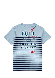 Ralph Lauren Childrenswear Striped Cotton Graphic Tee Toddler Boys