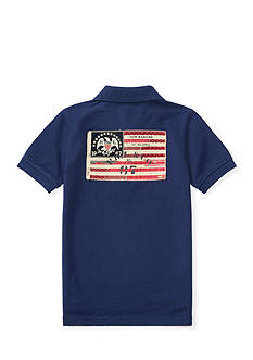 Ralph Lauren Childrenswear Flag-Patch Cotton Mesh Polo Toddler Boys
