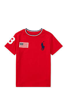 Ralph Lauren Childrenswear Cotton Jersey Crewneck Tee Toddler Boys