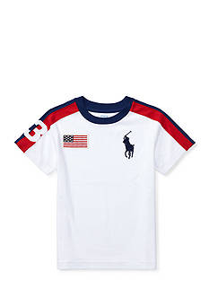 Ralph Lauren Childrenswear Big Pony Cotton Crewneck Tee Toddler Boys